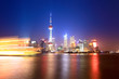 beautiful shanghai huangpu river at night