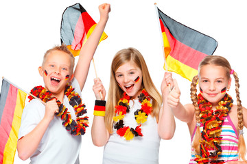 german soccer fans cheering