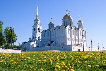 Assumption cathedral  at Vladimir in summer