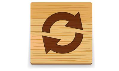 wood arrows button