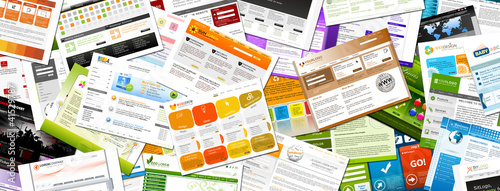 Webdesign, Homepage, Webpage, Stapel, Design, Panorama, Web, 2D