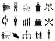 black management icons set