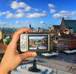 Photographer takes picture of Warsaw