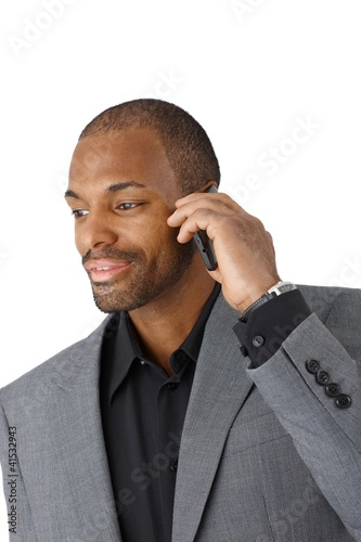 Businessman on mobile phone call