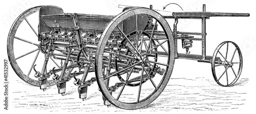 Seed drill, class I. Apparatus for the cluster seed.