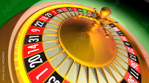 3D animation of casino roulette. Loopable.