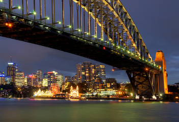 sydney harbour bridge and luna-park
