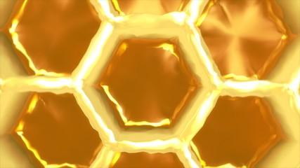 3D Honeycomb macro rotating in a perfect loop.