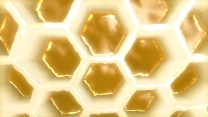 Honeycomb medium shot rotating in a perfect loop.