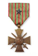 Croix de guerre avec citation 1914 1918
