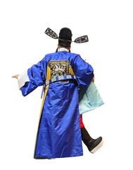 chinese traditional opera actor with white isolated background