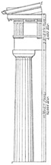 Doric order Parthenon in Athens