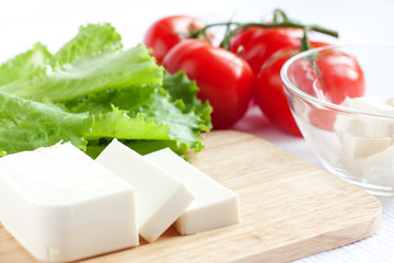 Feta cheese and tomato salad - Ingredients