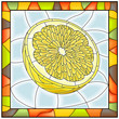 Vector illustration of fruit yellow lemon.