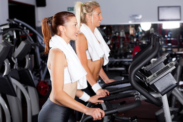 fitness women working out in gym