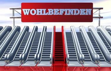 3D Rolltreppen - WOHLBEFINDEN