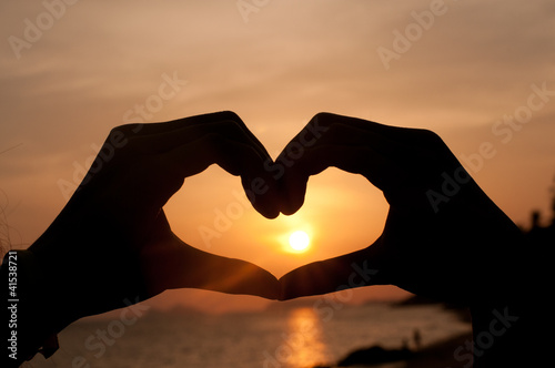Silhouette Heart from hand