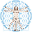 Vitruvian Man (Leonardo da Vinci) and Flower of Life