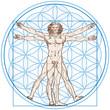 Vitruvian Man (Leonardo da Vinci) and Flower of Life