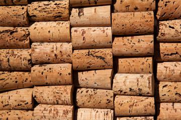 Wine cork texture