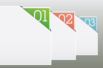 One two thre - vector web elements background