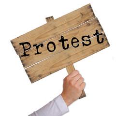 Schild Protest