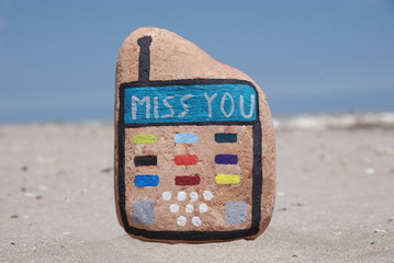stone mobile phone and miss you concept