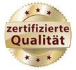 zertifizierte qualität button gold