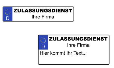 Kfz-Kennzeichen Logo Zulassungsdienst