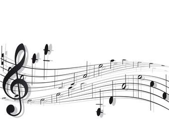 Musiknoten mit Schwung