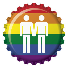 rainbow of love gay bottle cap