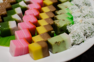 Malay colourful traditional dessert / kuih