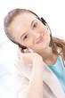 portrait of a happy female customer service representative