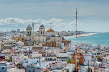 Panorama of Cadiz, Spain