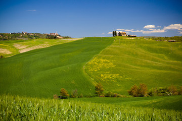 View of a Typical Tuscany Landscape in Spring time