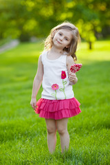Cute child with lollipop