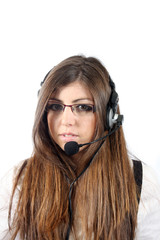 Young woman callcenter