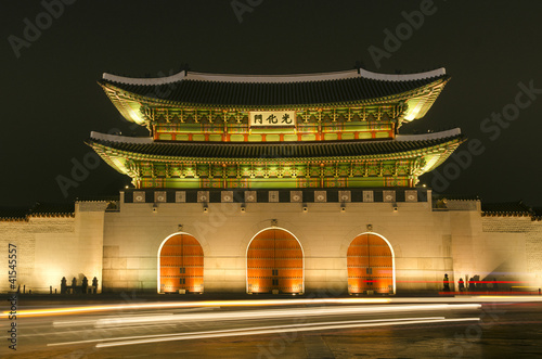Gwanghwamun gate of Gyeongbokgung palace in seoul south korea