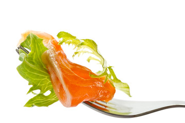 salad with salted salmon