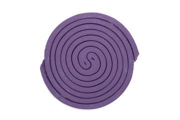 Purple mosquito spiral coil.