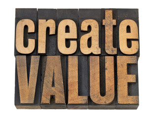 create value text in wood type