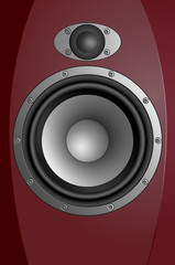 Acoustic sound systems. Realistic eps10 vector illustration