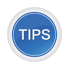 tips blue glossy button