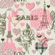 obraz - Paris seamless pat...