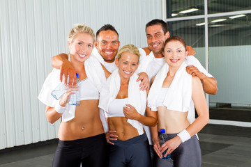 group of fitness people portrait in gym