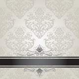Fototapety Luxury floral silver and black book cover