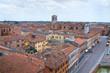 Panoramic view of Ferrara. Emilia-Romagna. Italy.