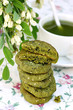 Cookies with green tea and sesame seeds