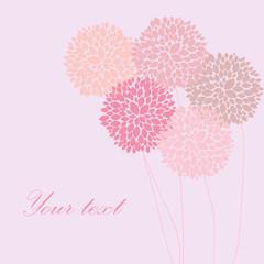 Cute unique floral card