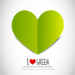 Love Green Paper Heart